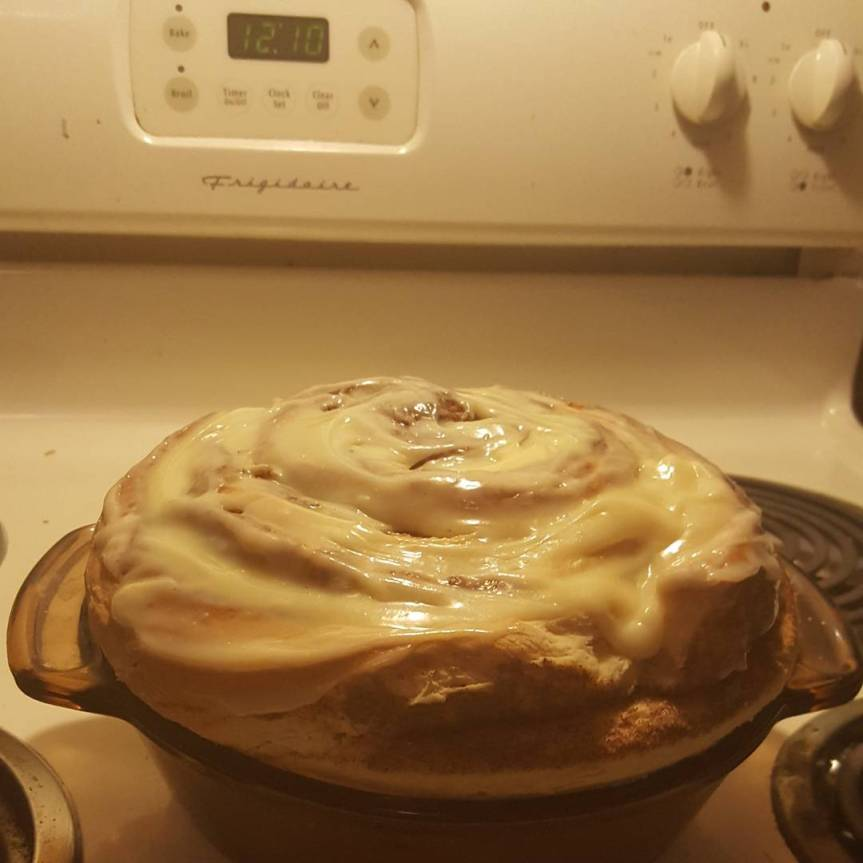 Recipe Review: Giant Cinnamon Roll Cake